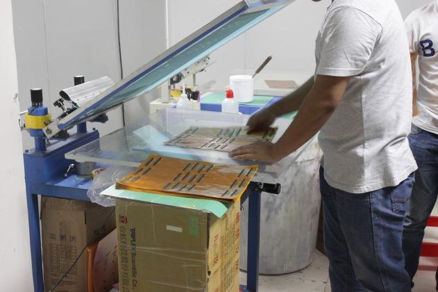 Silkscreening flex PCB